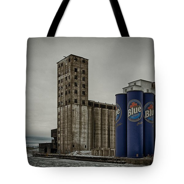 A Tall Blue Six-pack Tote Bag