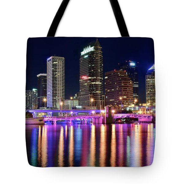 A Tampa Bay Night Tote Bag by Frozen in Time Fine Art Photography