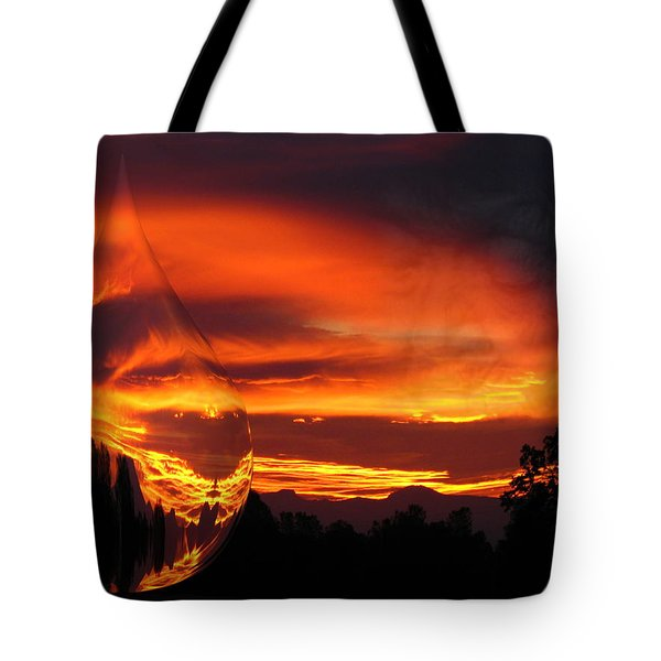 Tote Bag featuring the digital art A Teardrop In Time by Joyce Dickens