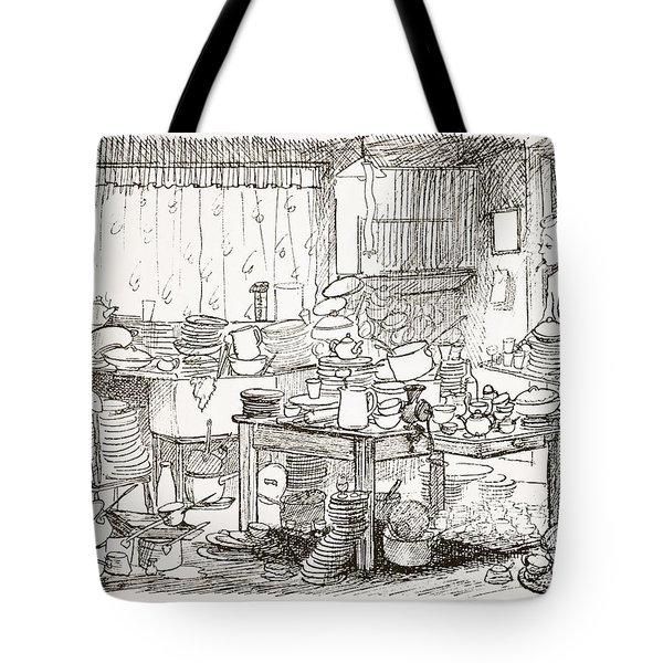 A Tendency To Leave The Washing-up Till Tote Bag by Pont