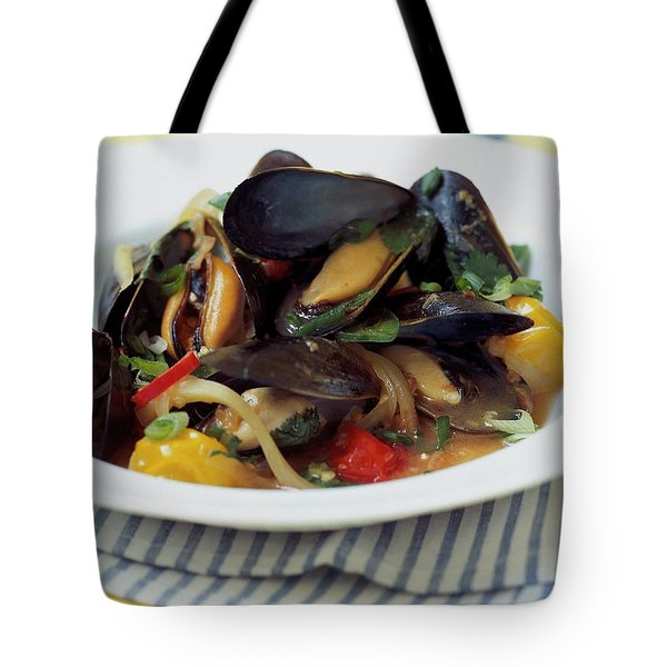 A Thai Dish Of Mussels And Papaya Tote Bag