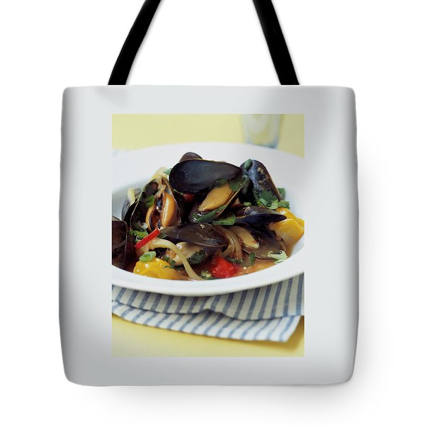 A Thai Dish Of Mussels And Papaya Tote Bag