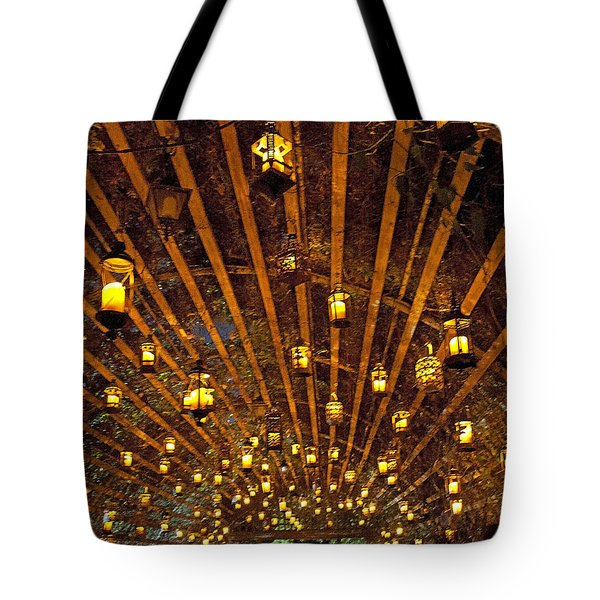 Tote Bag featuring the photograph A Thousand Candles - Tunnel Of Light by John Black