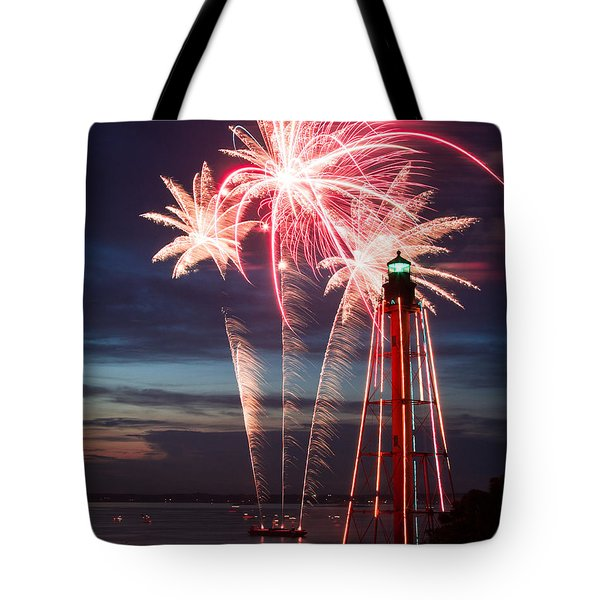 A Three Burst Salvo Of Fire For The Fourth Of July Tote Bag
