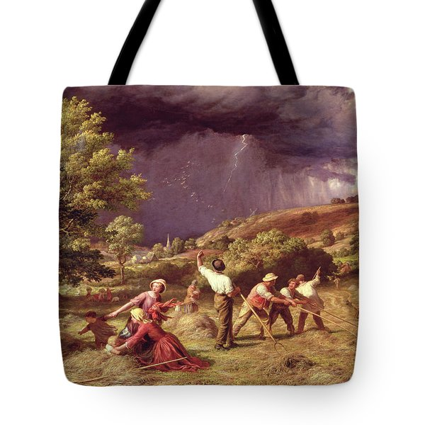 A Thunder Shower, 1859 Tote Bag by James Thomas Linnell