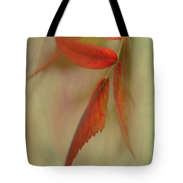 Tote Bag featuring the photograph A Touch Of Autumn by Annie Snel