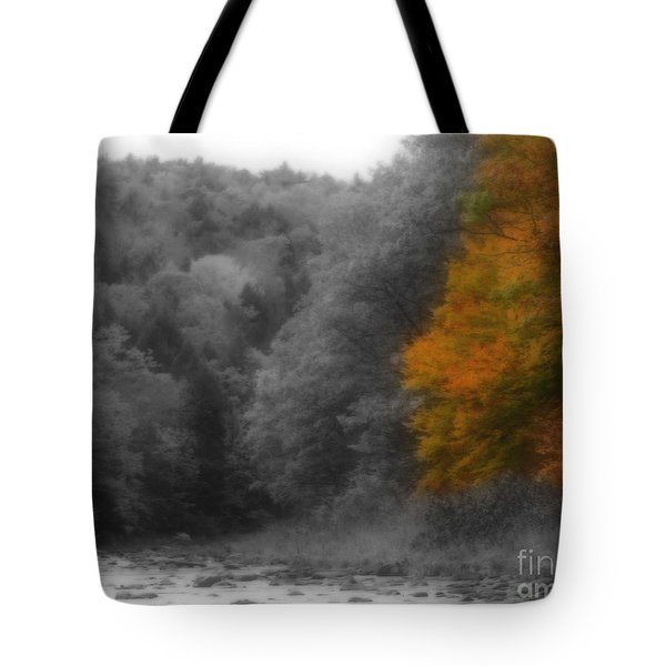 A Touch Of Autumn Colors Tote Bag by Smilin Eyes  Treasures