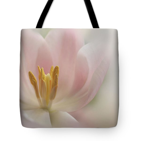 Tote Bag featuring the photograph A Touch Of Pink by Annie Snel