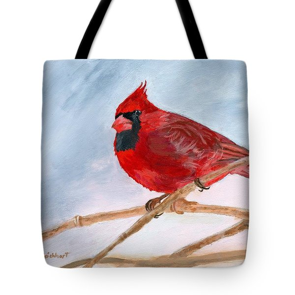 Tote Bag featuring the painting A Touch Of Red by Lynne Reichhart