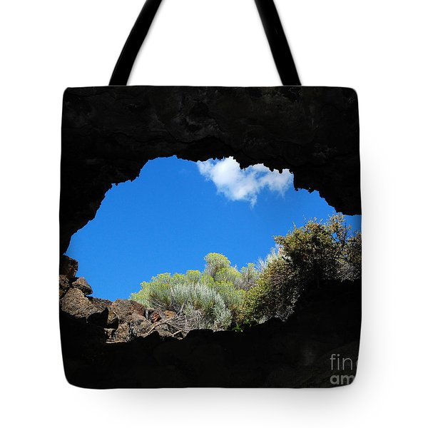 Tote Bag featuring the photograph A Touch Of Sky by Debra Thompson