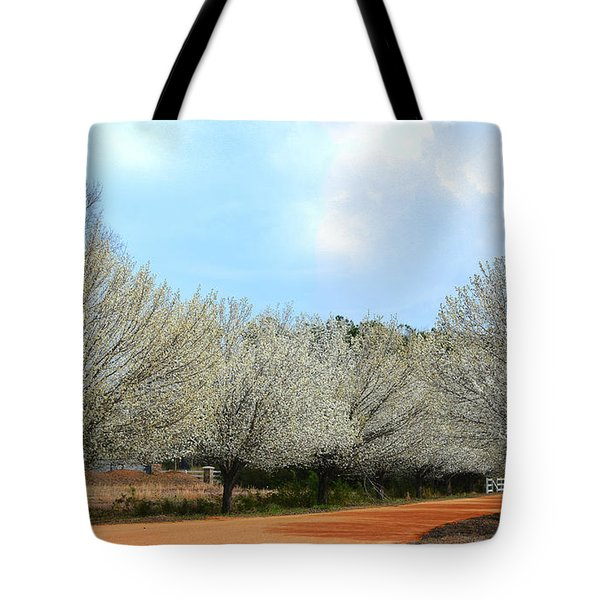 Tote Bag featuring the photograph A Touch Of Spring by Kathy Baccari