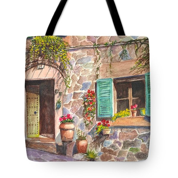 A Townhouse In Majorca Spain Tote Bag