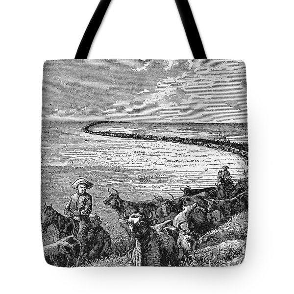 A Trail In The Great Plains, Illustration From Harpers Weekly, 1874, From The Pageant Of America Tote Bag