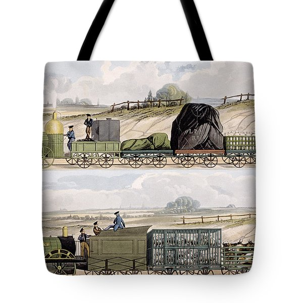 A Train Of Wagons And A Train Tote Bag