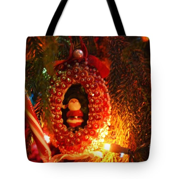 Tote Bag featuring the photograph A Treasured Santa by Laurie Lundquist