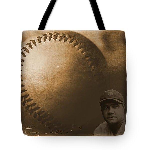 A Tribute To Babe Ruth And Baseball Tote Bag by Dan Sproul