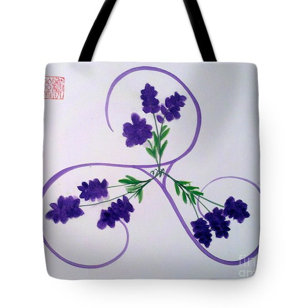A Triskele Of Lavender Tote Bag