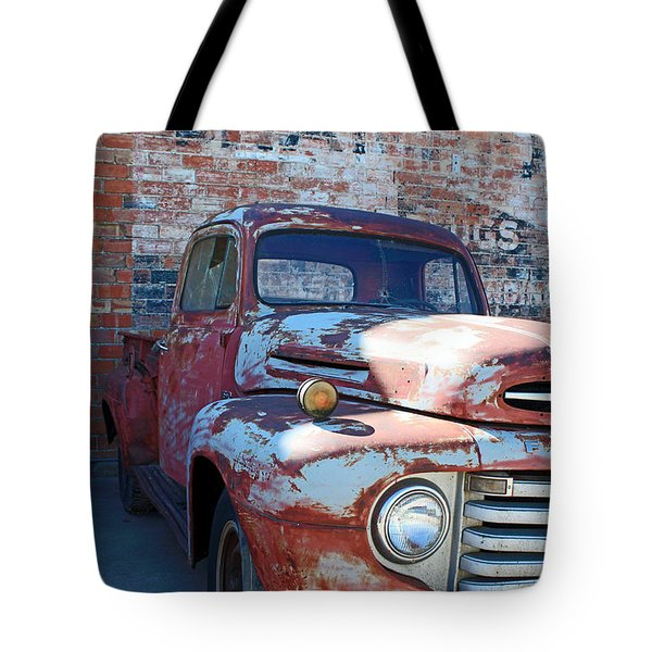 A Truck In Goodland Tote Bag by Lynn Sprowl