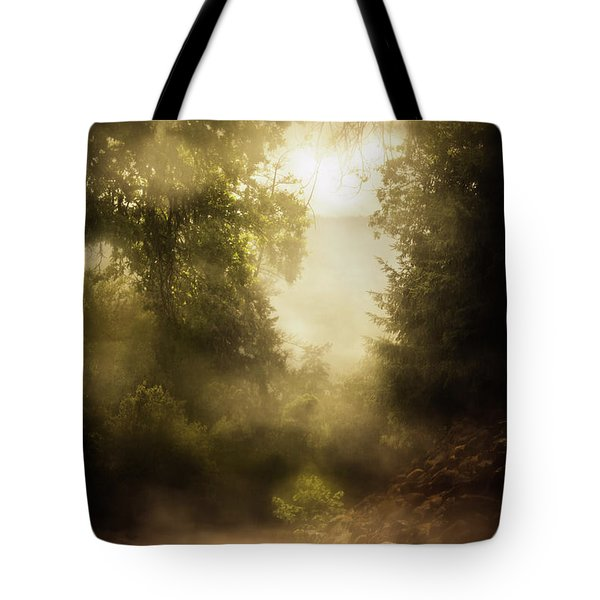A Turn In A Rainy Road Tote Bag