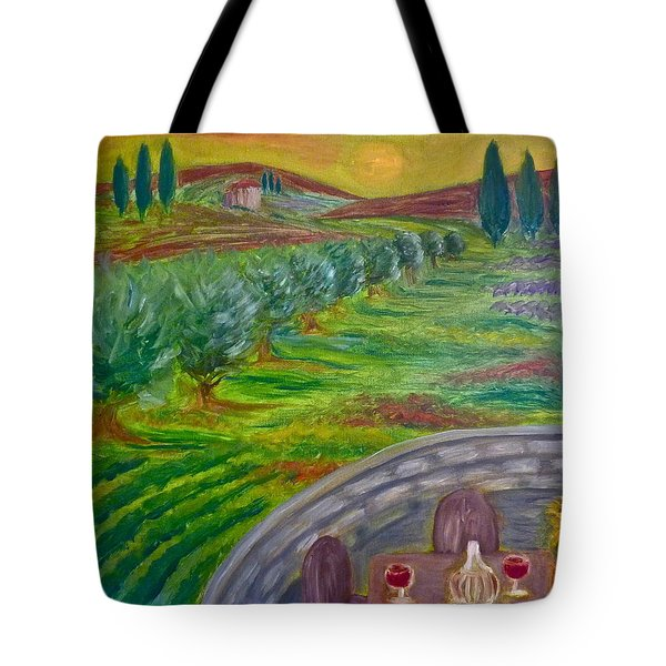 A Tuscan Balcony Tote Bag by Victoria Lakes