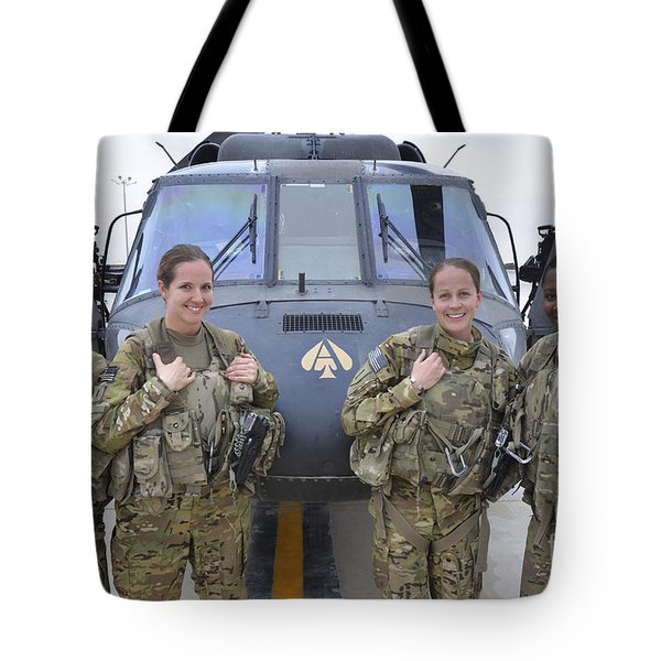 A U.s. Army All Female Crew Tote Bag by Stocktrek Images