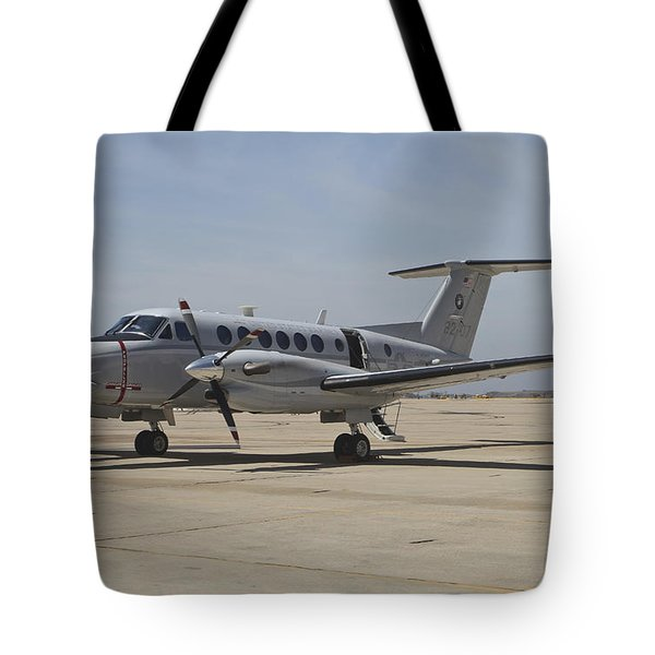 A U.s. Navy Uc-12w King Air Utility Tote Bag by Timm Ziegenthaler
