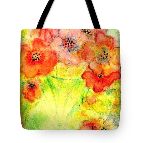 A Vaseful Of Sunshine Tote Bag by Hazel Holland