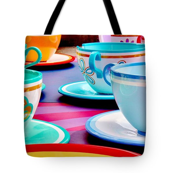 Tote Bag featuring the photograph A Very Merry Unbirthday by Benjamin Yeager