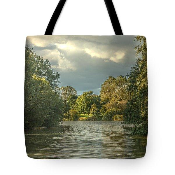 A View Down The Lake Tote Bag