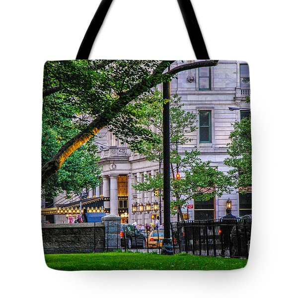 A View From Central Park Tote Bag by Mary Carol Story