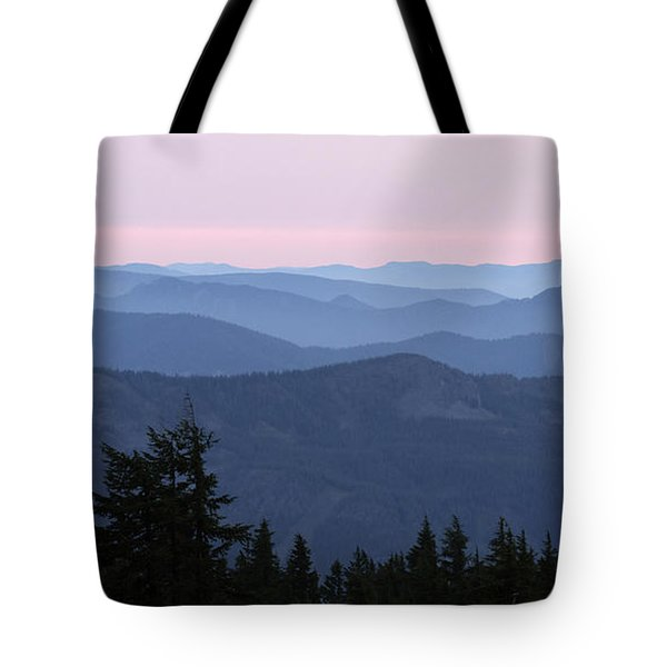 A View From Timberline Tote Bag