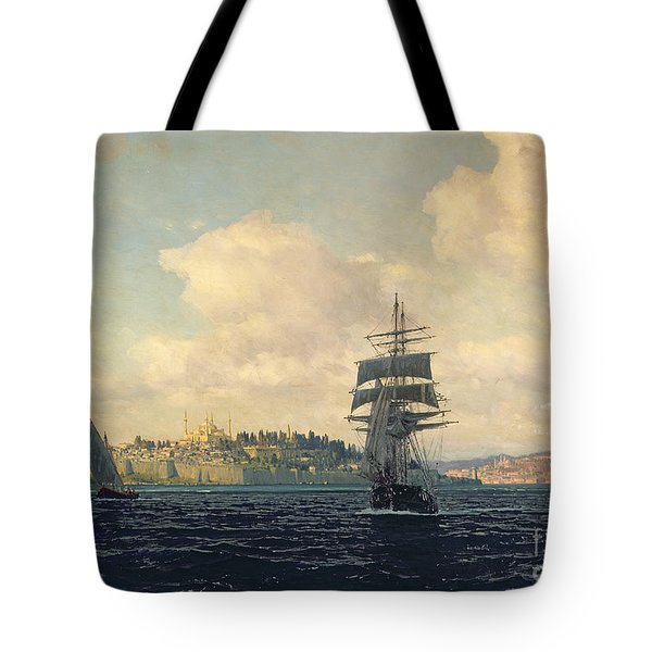 A View Of Constantinople Tote Bag by Michael Zeno Diemer