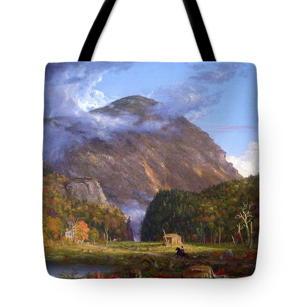 A View Of The Mountain Pass Called The Notch Of The White Mountans By Thomas Cole Tote Bag