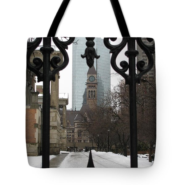 A View Through The Gate Tote Bag