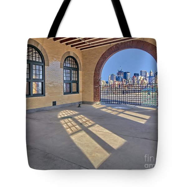 A View To Nyc Tote Bag by Susan Candelario