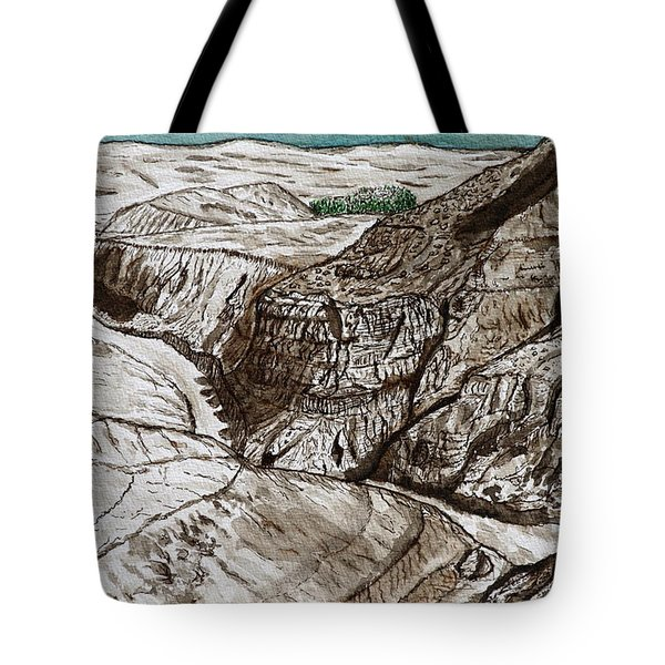 a view to the Dead Sea. Tote Bag