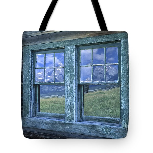 A View To The Tetons Tote Bag by Sandra Bronstein