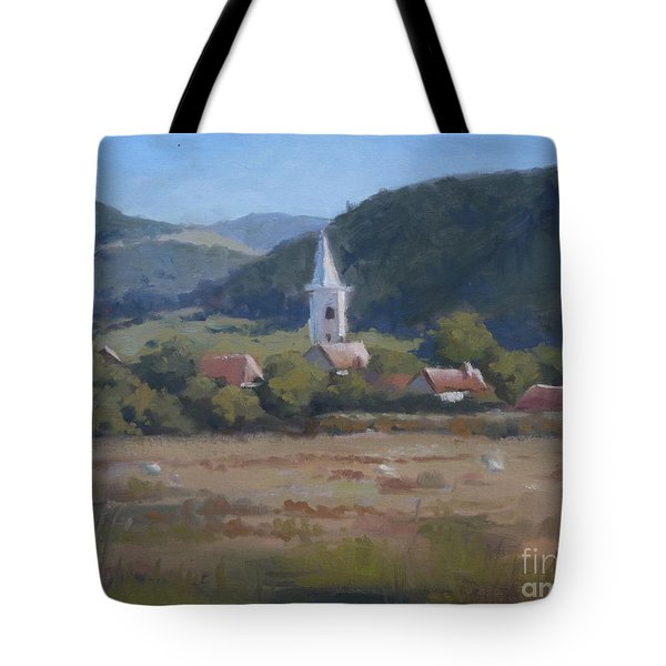 A Village In Erdely Tote Bag
