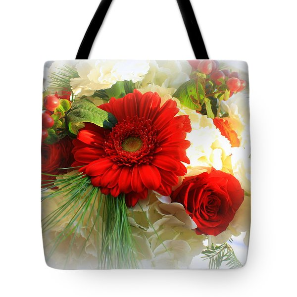 A Vision In Red Tote Bag by Dora Sofia Caputo Photographic Art and Design
