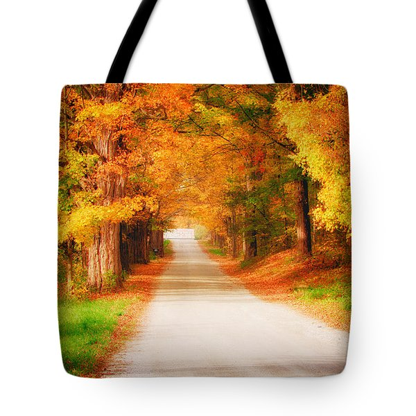 A Walk Along The Golden Path Tote Bag by Jeff Folger