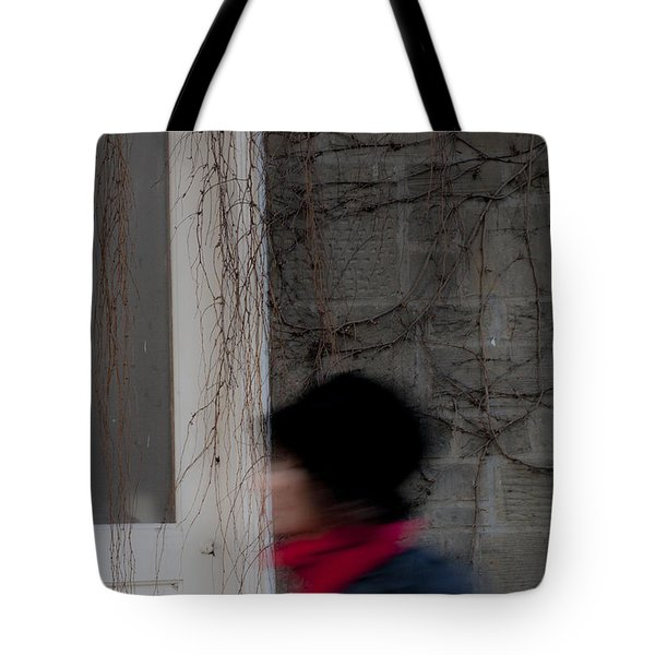 A Passerby In The Street Tote Bag by Rich Collins