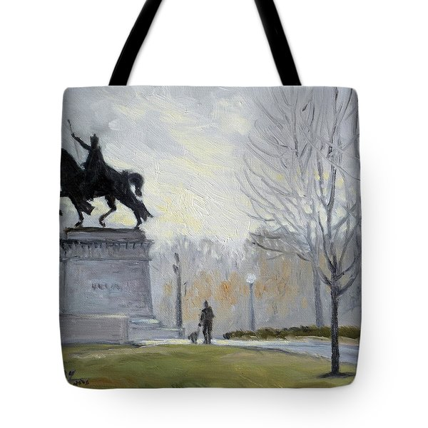 A Walk In Forest Park In St.louis Tote Bag by Irek Szelag