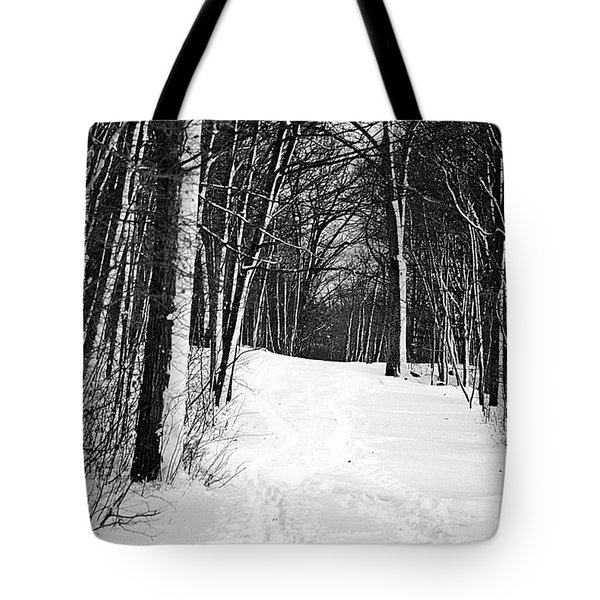 A Walk In Snow Tote Bag by Joe Faherty