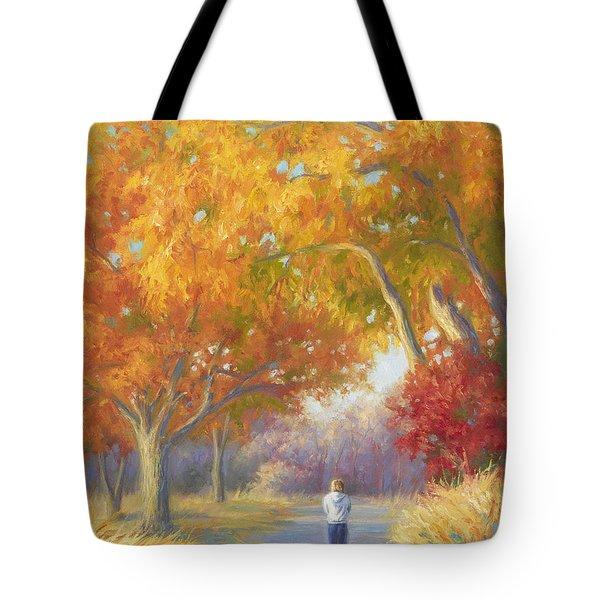 A Walk In The Fall Tote Bag