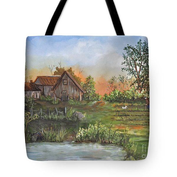 A Walk In The Garden Tote Bag by Reb Frost