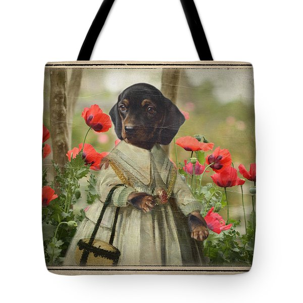 A Walk In The Garden Tote Bag by Terry Fleckney