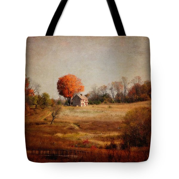 A Walk In The Meadow With Texture Tote Bag