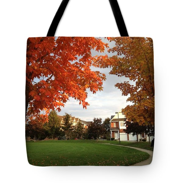 A Walk In The Park Tote Bag by Pema Hou