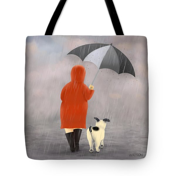 A Walk In The Rain 2 Tote Bag by Marlene Watson