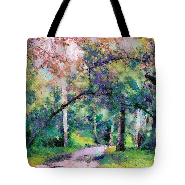 A Walk Inside The Rainbow Forest Tote Bag